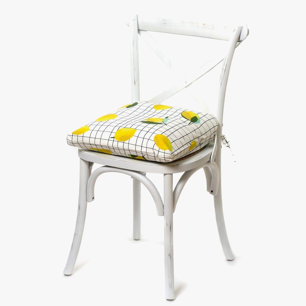 Capa de Almofada para Cadeira Limões 40x40 cm