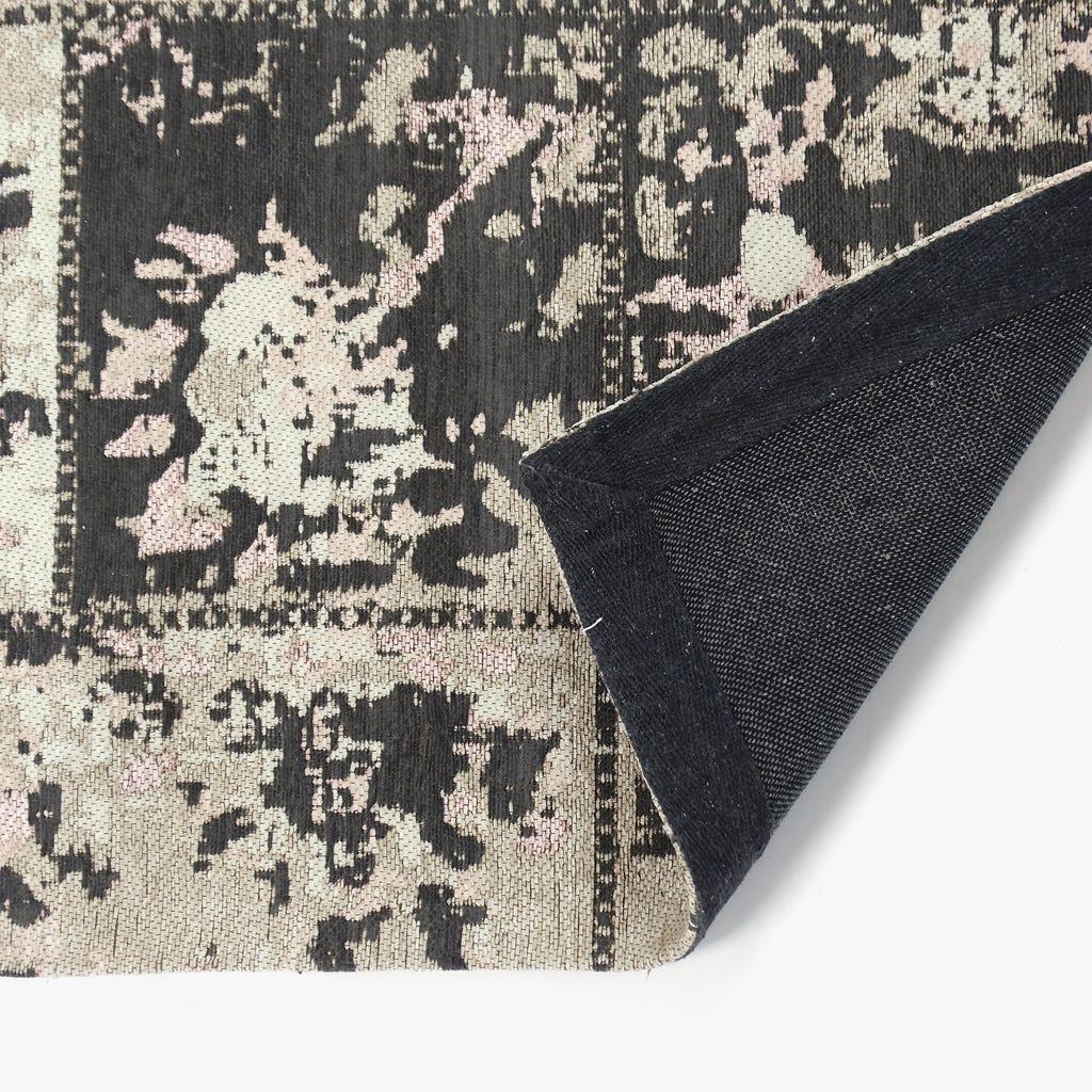 Tapete Patch Cinza e Rosa 100x150 cm
