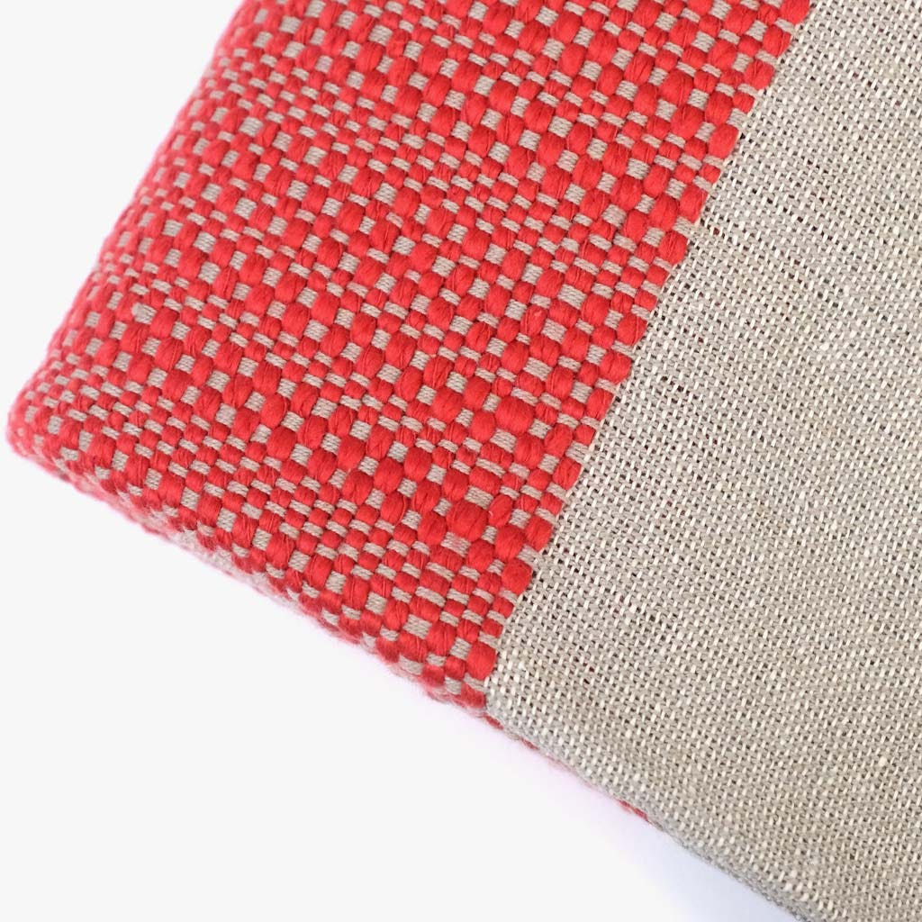 Manta Franjas Vermelho 125x170 cm
