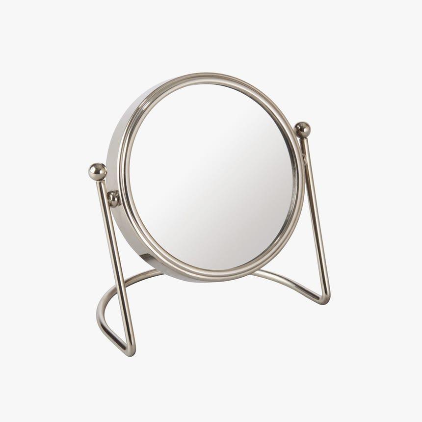 Espelho de mesa Prateado 11 cm