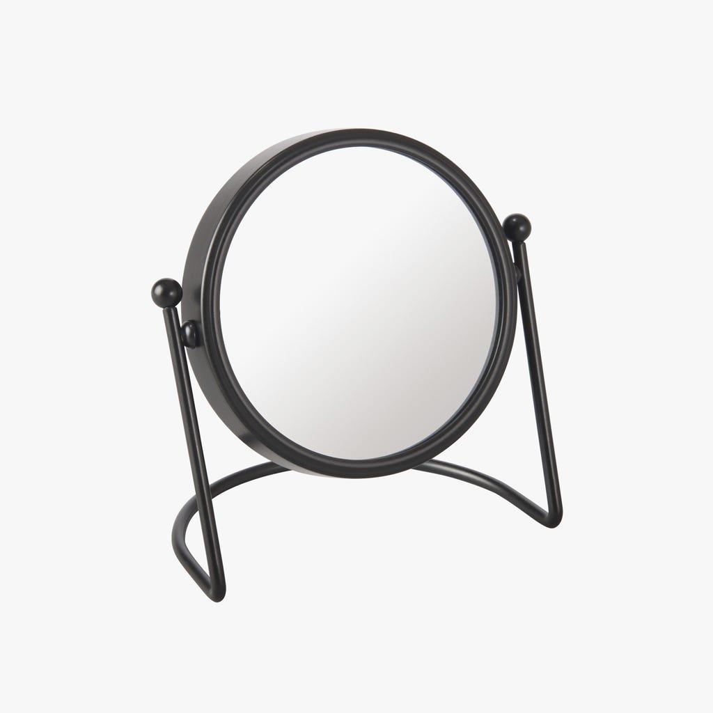 Espelho de mesa Preto 11 cm