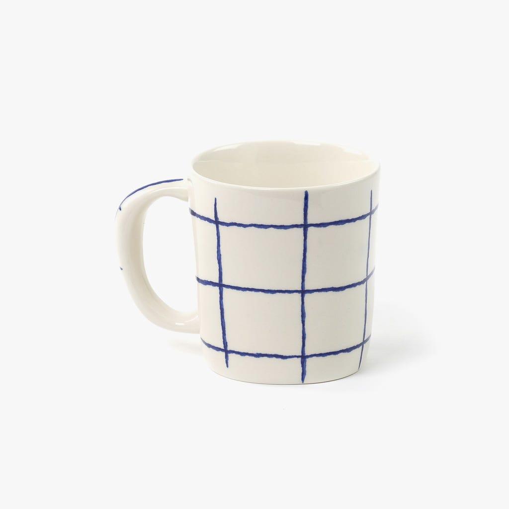 Caneca Quadrados Azul I
