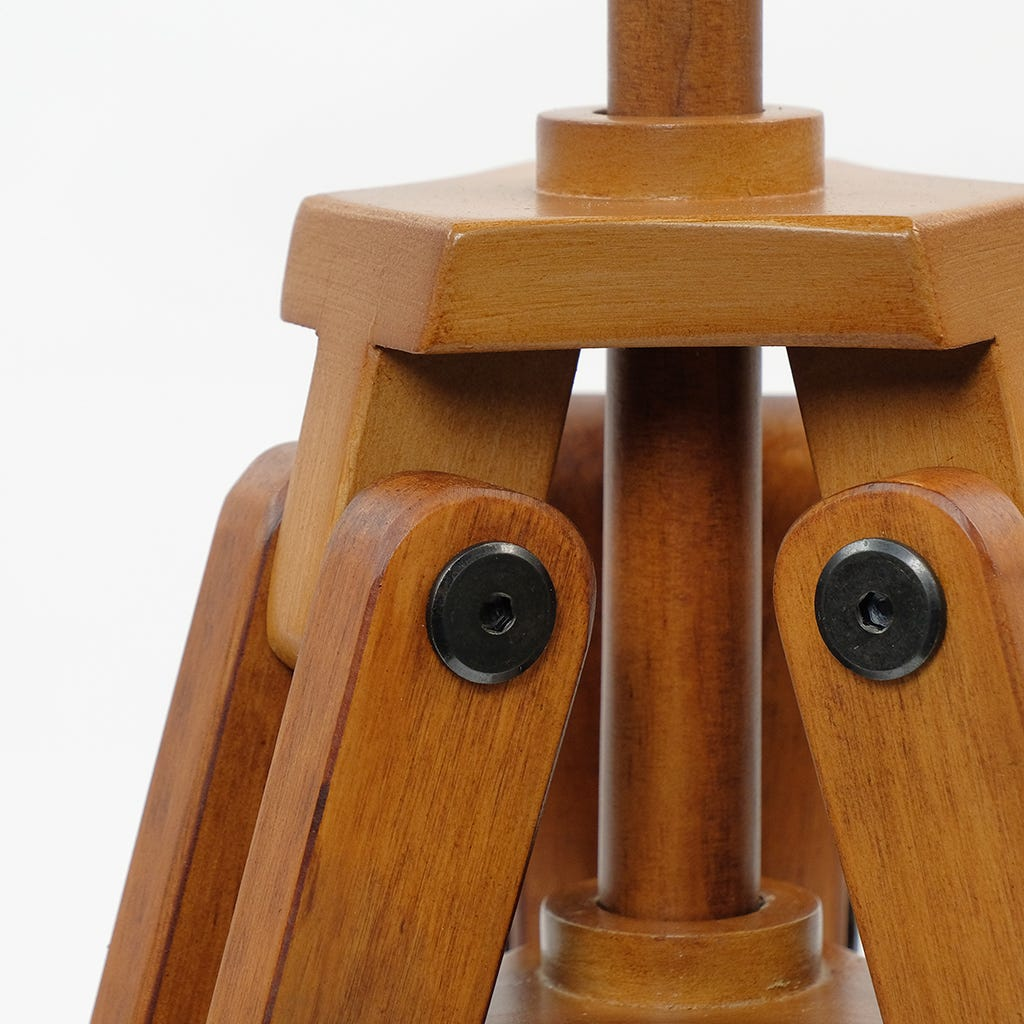 Candeeiro de Mesa Zarco Tripé Brown D:30x59 cm