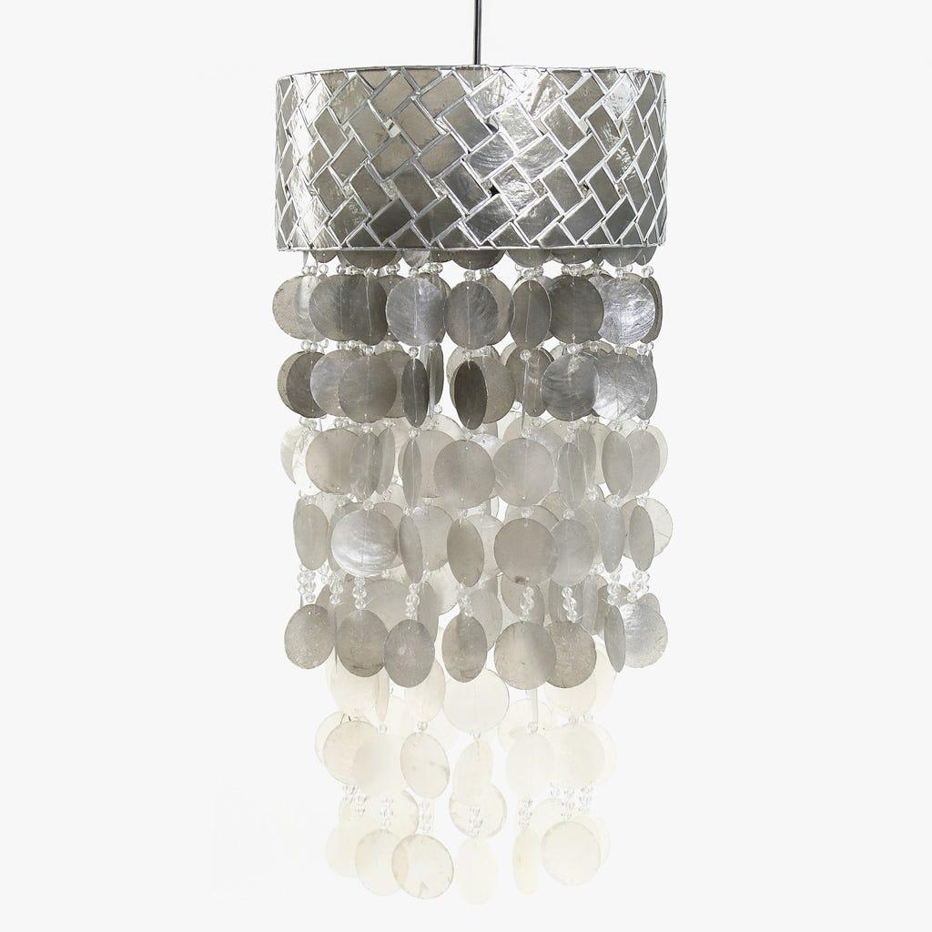 Candeeiro de Teto Conchas Prata 31 cm