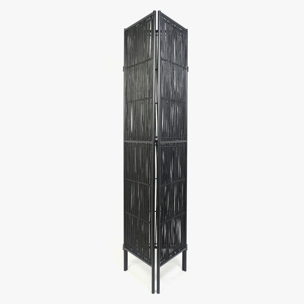Biombo Rattan Preto45x180 cm