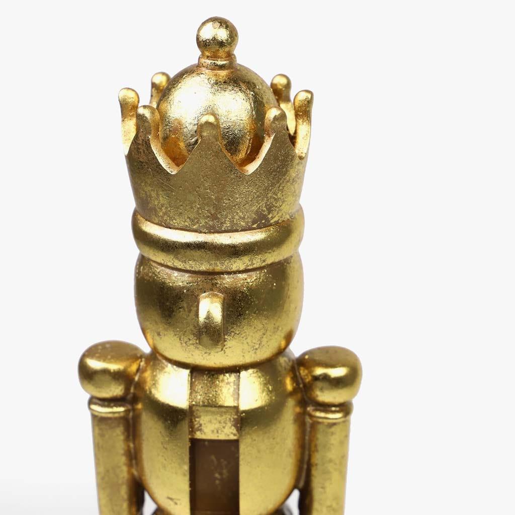 Soldado Quebra Nozes Dourado 13x13x37 cm