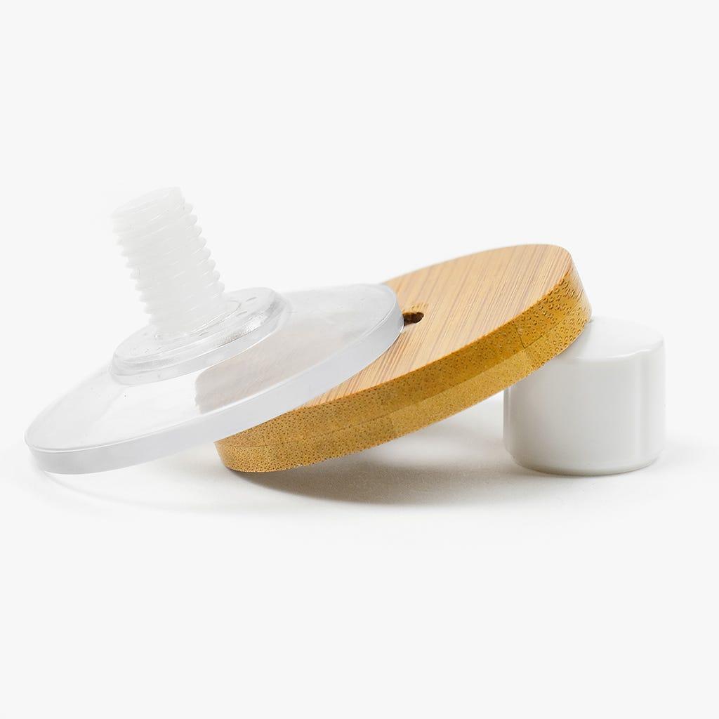 Toalheiro Branco + Bambu 40 cm
