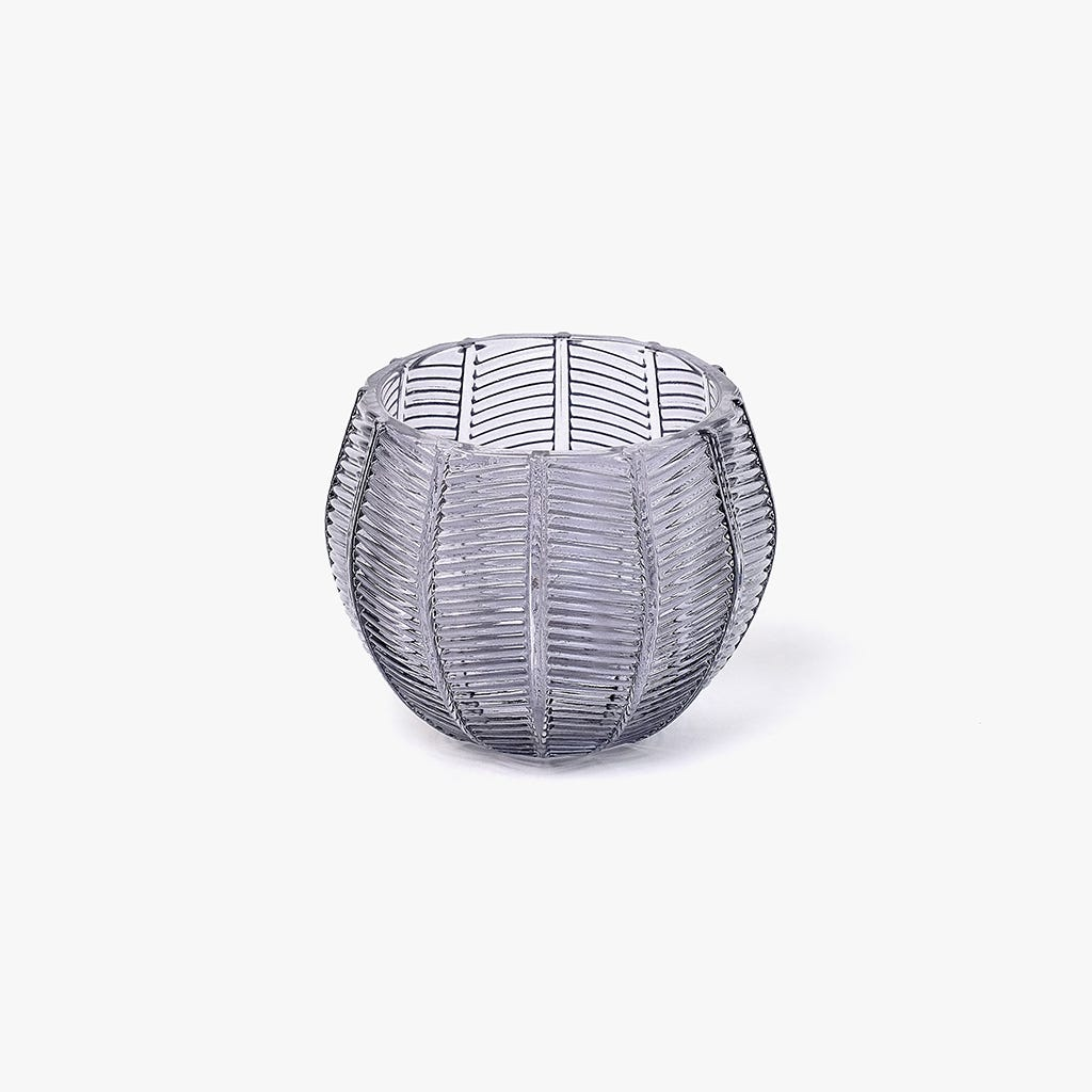 Tealight Cinza 10x10x8 cm