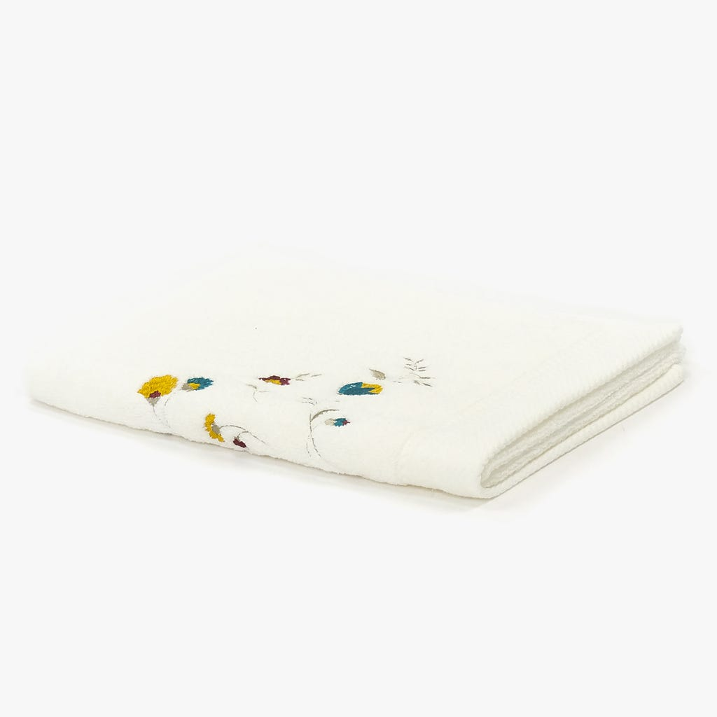 Toalha de banho Flores Bordadas 90x150 cm