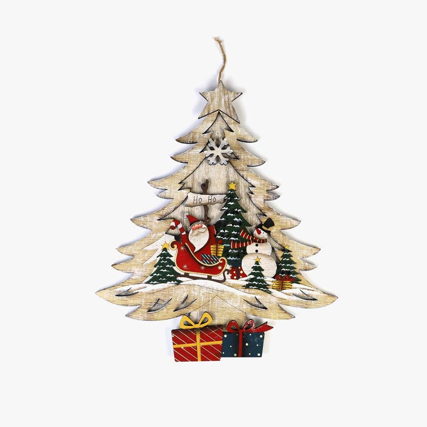 Árvore de Natal Branca 33x39 cm