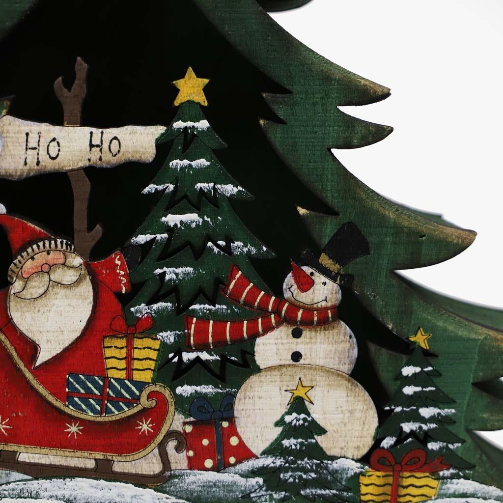 Árvore de Natal 3D Verde 33x39 cm