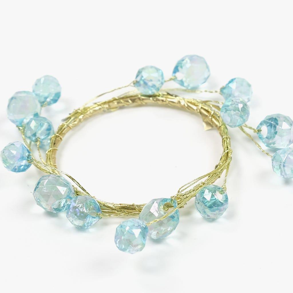 Anel Azul e Dourado 6 cm