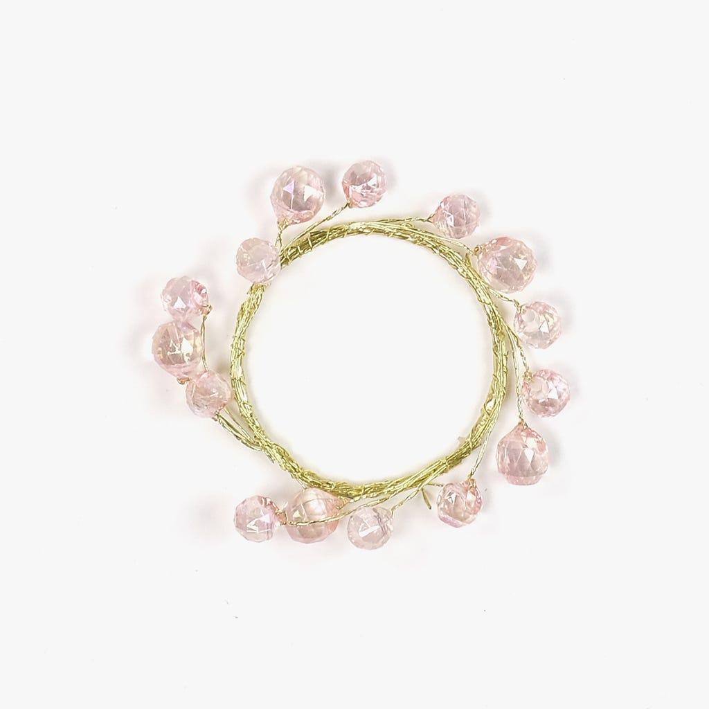 Anel Rosa e Dourado 6 cm