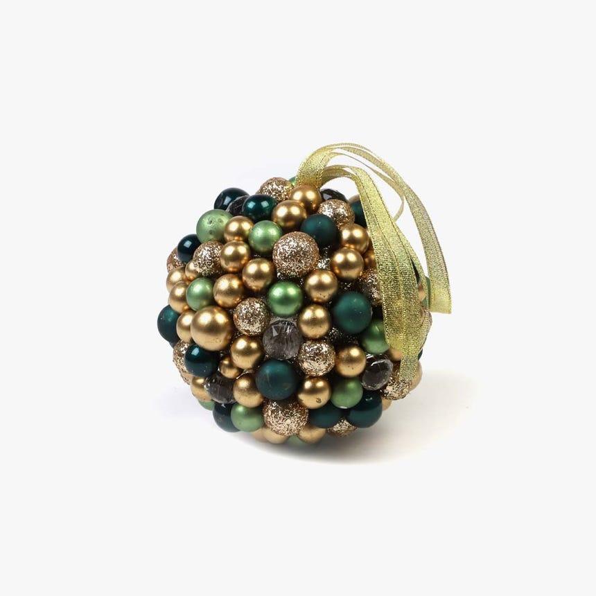 Bola Bagas Azul e dourado 11,5 cm