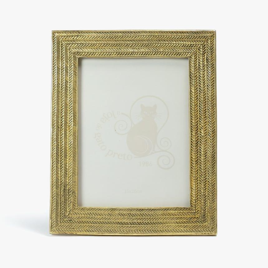 Moldura Malha Dourada 15x20 cm