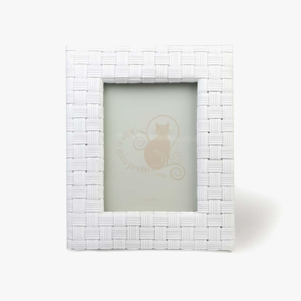 Moldura Entrelaçada Branco 13x18 cm