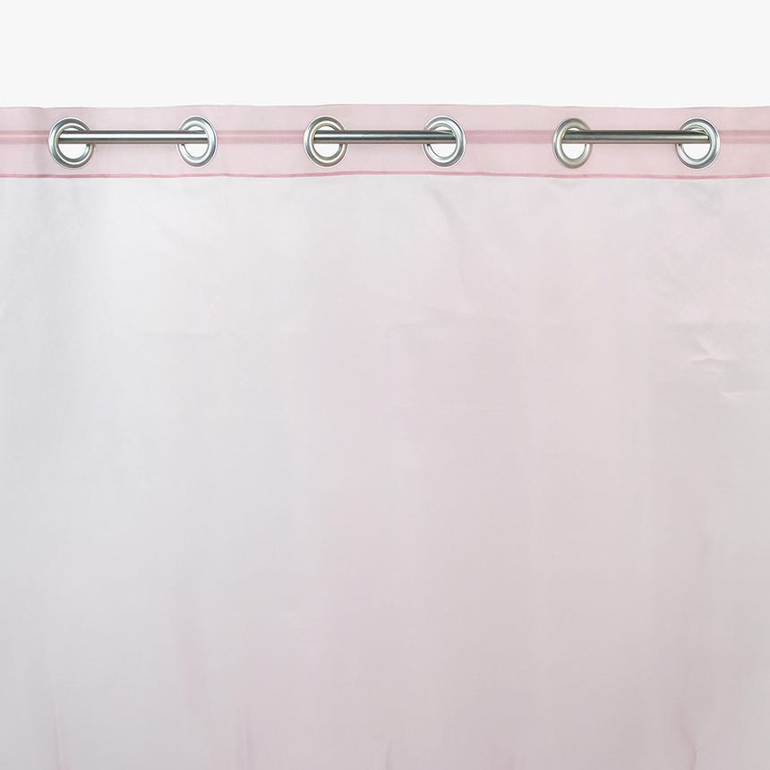 Cortinado Organza Morango 140x270 cm