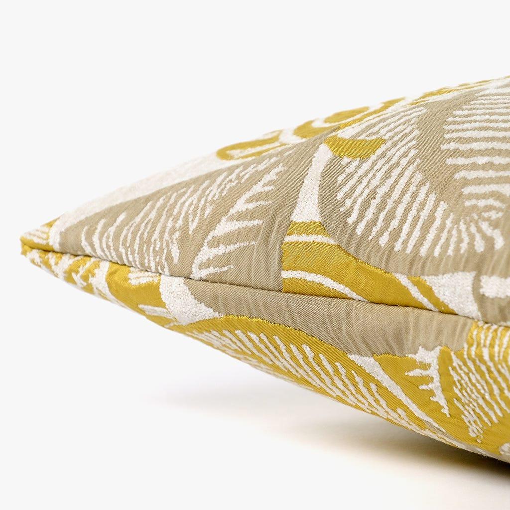 Capa de Almofada Stella Folha Natural e Mostarda 50x50 cm