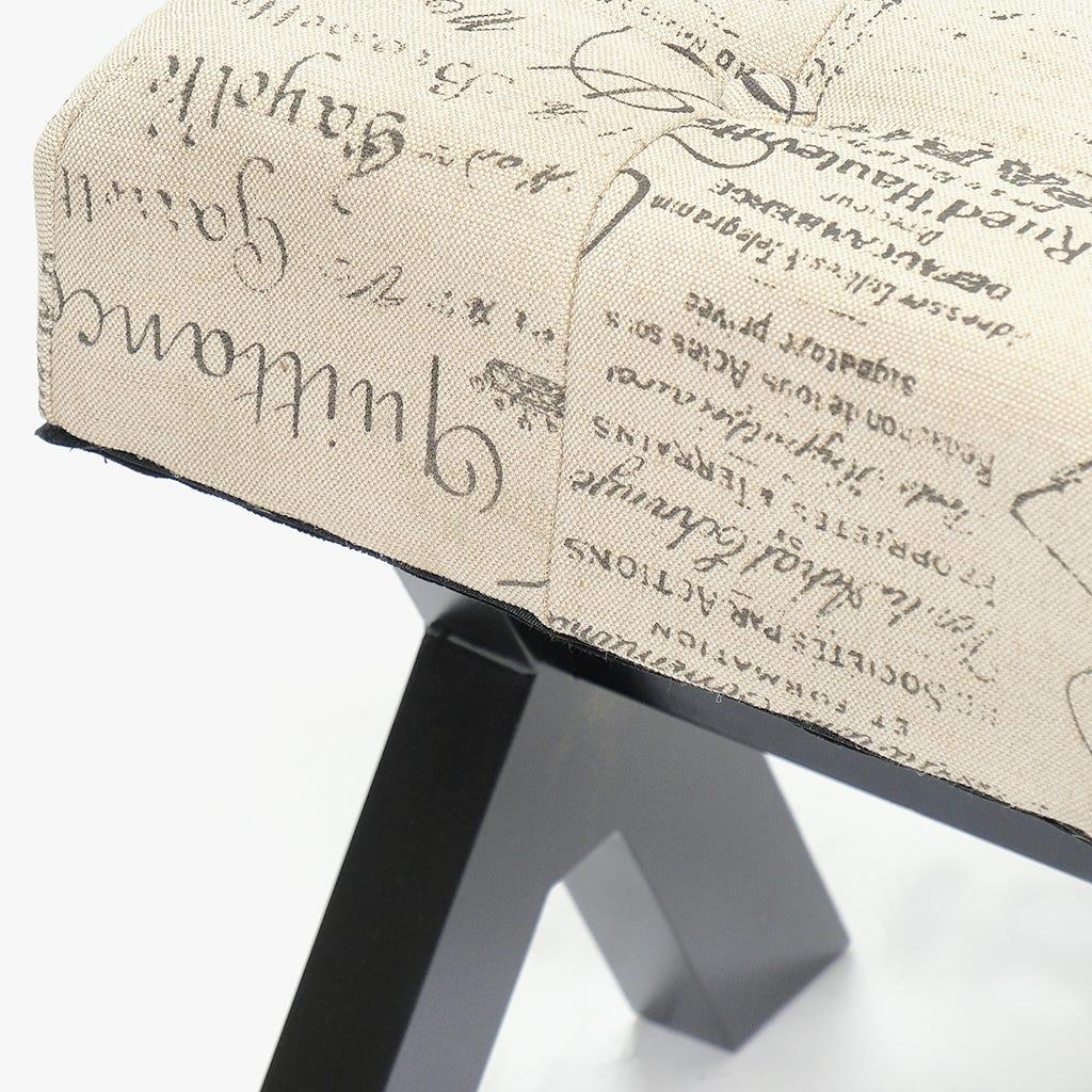 Banqueta X Letras 120x40x48 cm