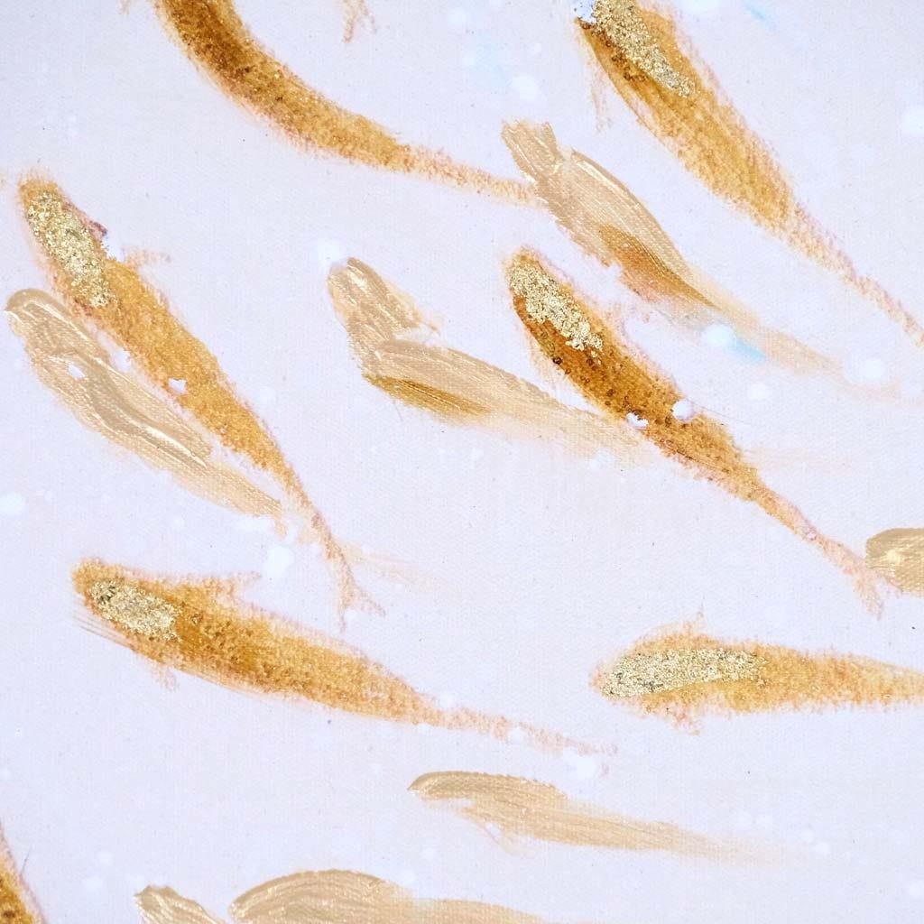 Tela Peixes Dourado 120x120 cm