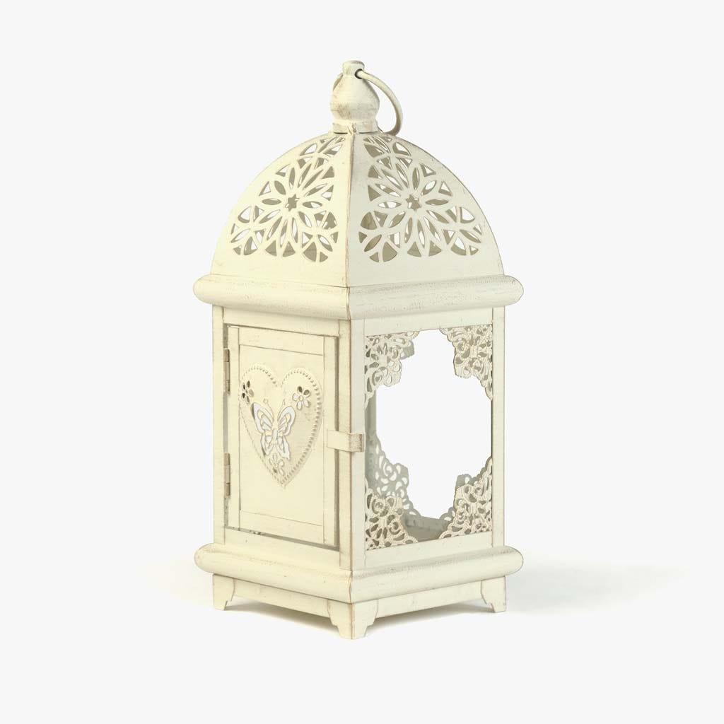 Lanterna Quadrada Branca 13,8x13,8x31,5 cm