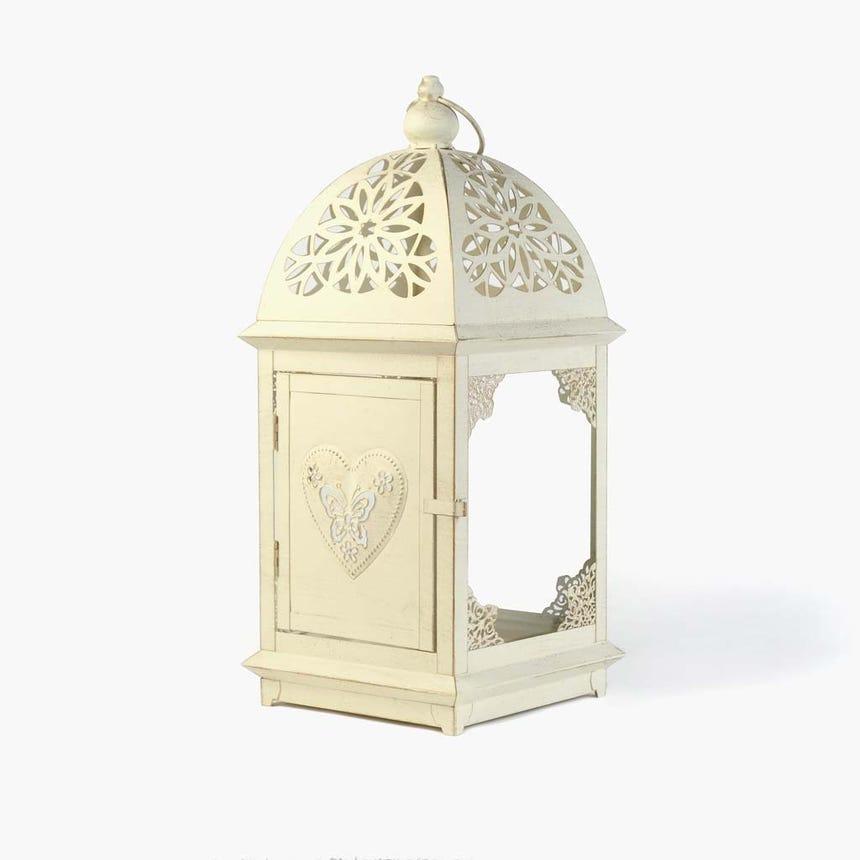 Lanterna Quadrada Branca 20,2x20,2x46,5 cm
