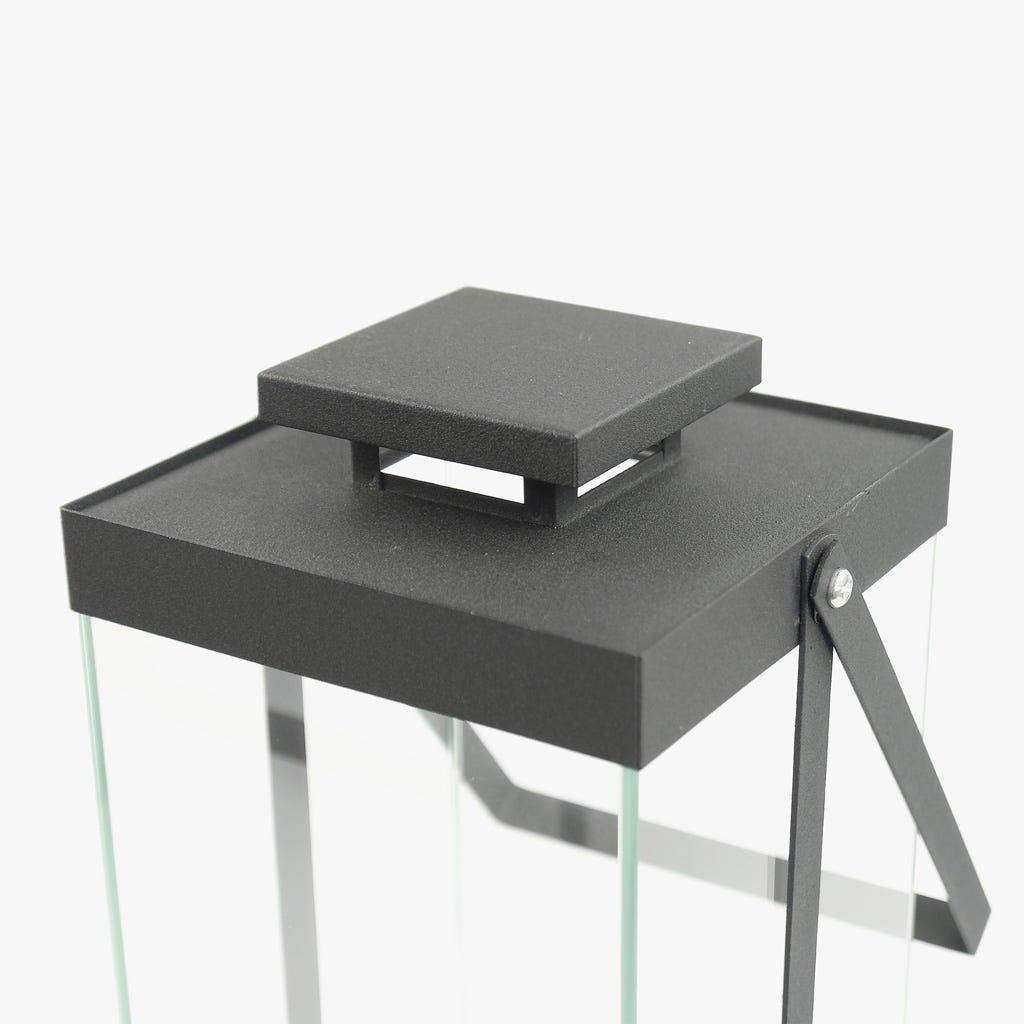Lanterna Frosted Black 17x15x45 cm