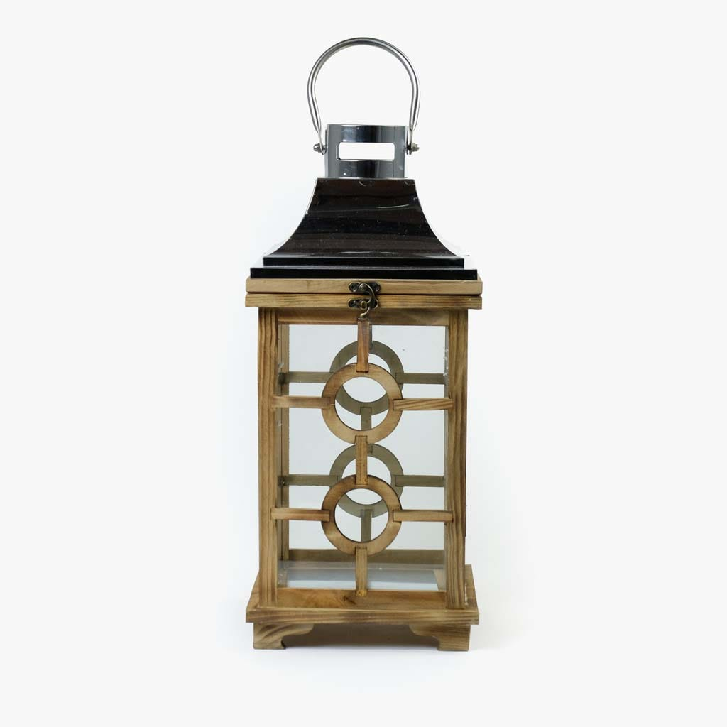 Lanterna Madeira/Inox20x21x45 cm