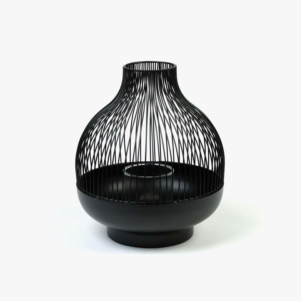 Lanterna Tallin preto20x24 cm
