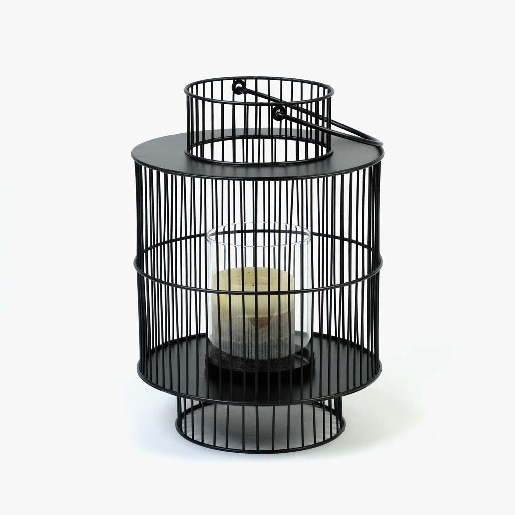 Lanterna Tallin preto19x28 cm