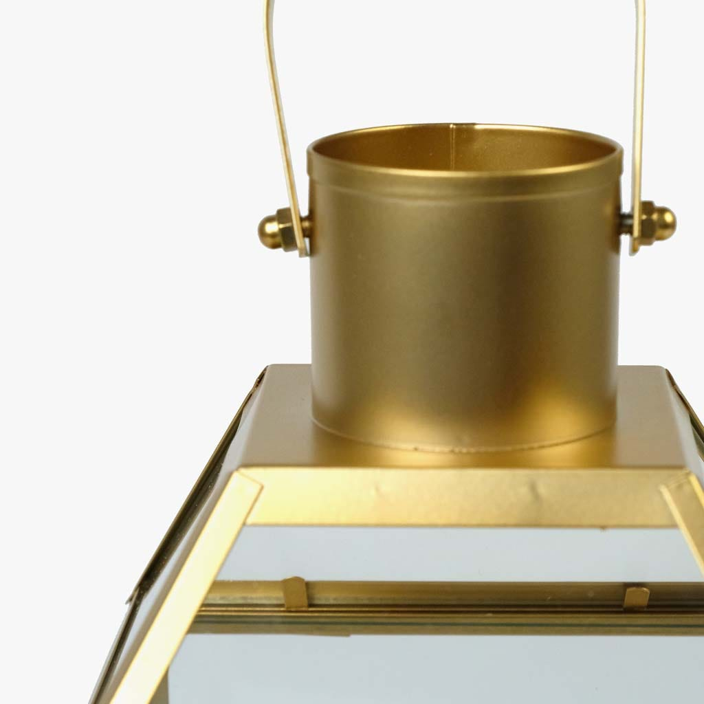 Lanterna Norm ouro17x15x31 cm