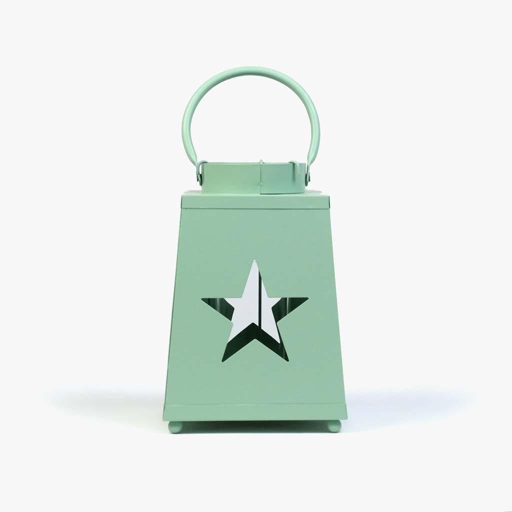 Lanterna Estrela Verde 22 cm