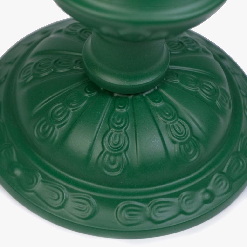 Castiçal Verde e Dourado15x39 cm
