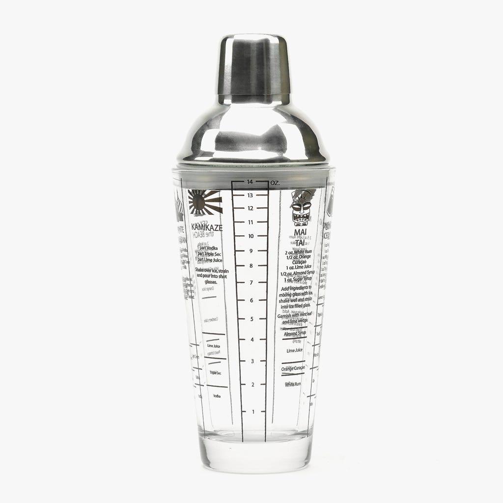 Shaker Inox e Vidro 400 ml