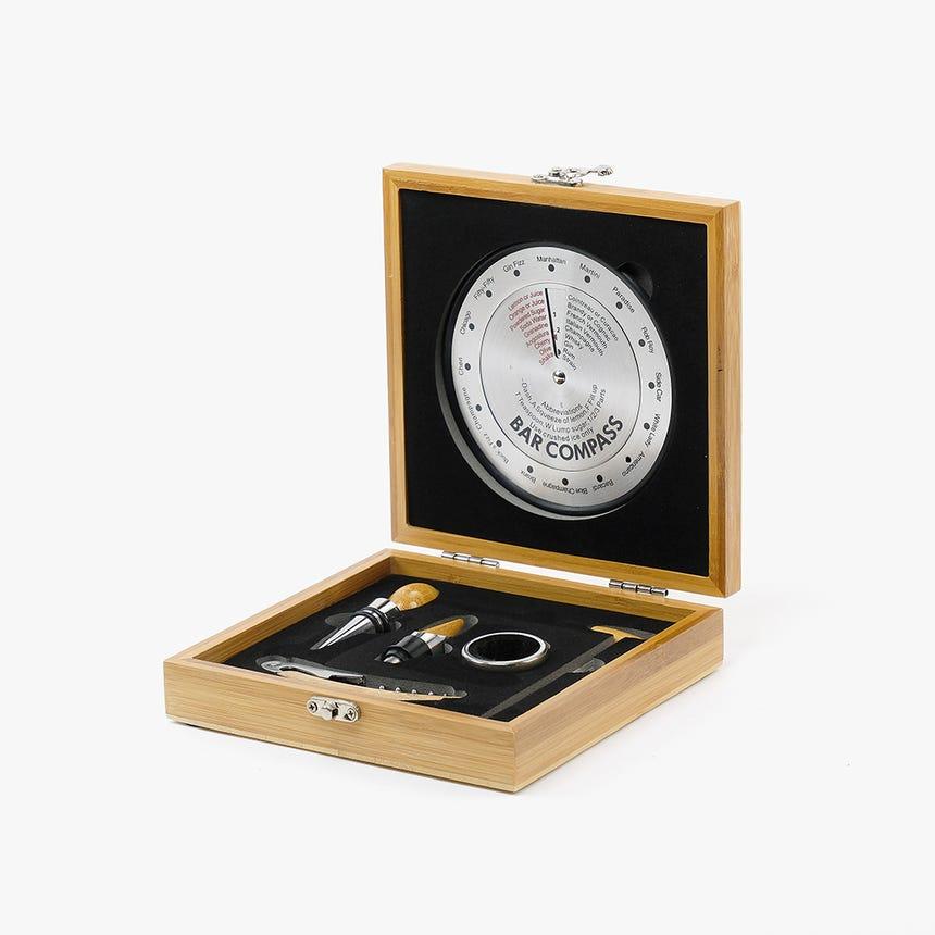 Conjunto para Vinho Compass Bambu (6 peças)