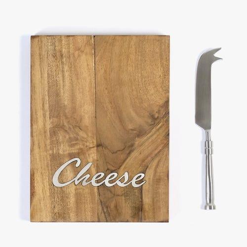 Tábua de queijos com faca