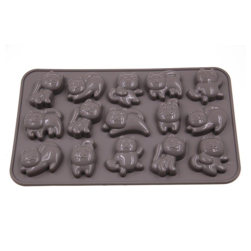 Couvete Gelo/Molde Chocolate Gatos Cinza