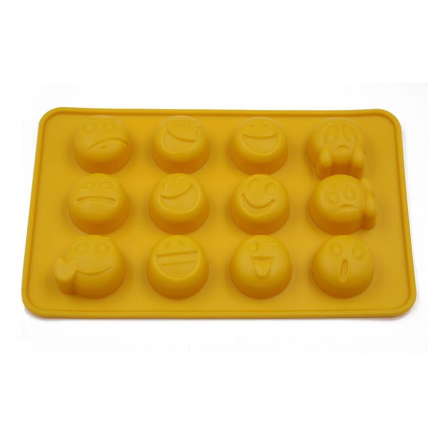 Couvete Gelo/Molde Chocolate Smile Amarelo
