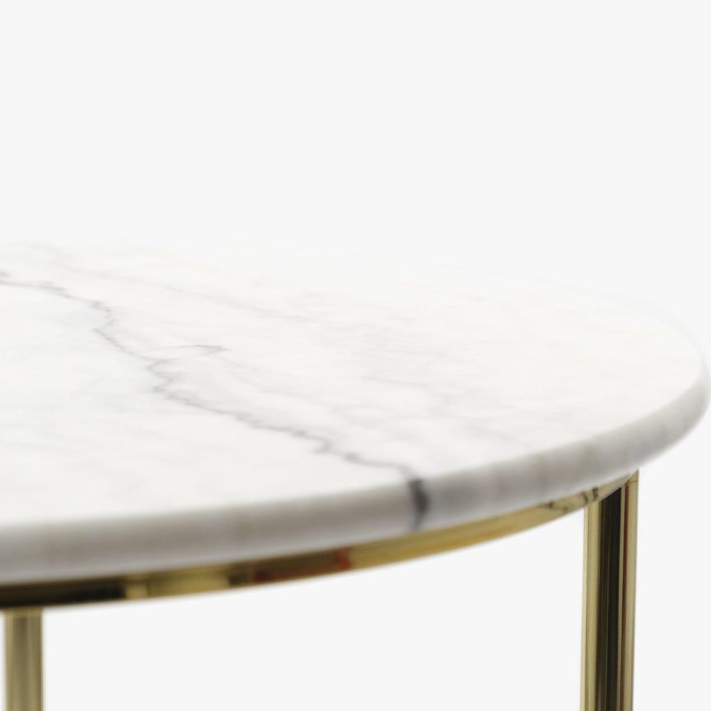 Mesa de apoio Mármore BrancoD:63x52 cm