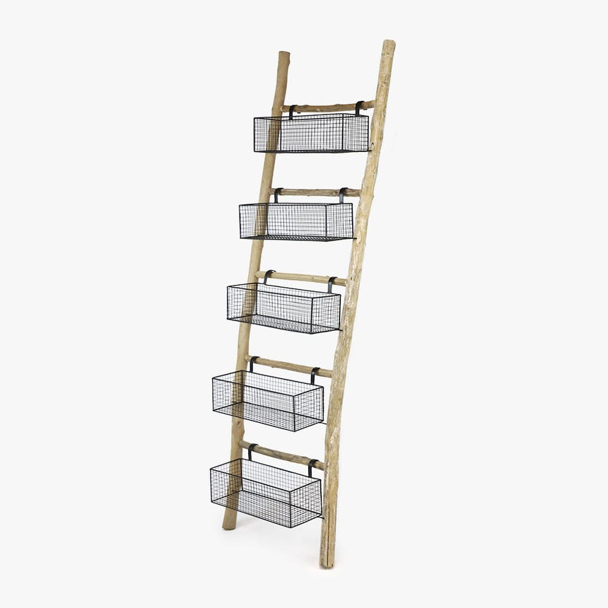 Estante Escada Cesto 170 cm