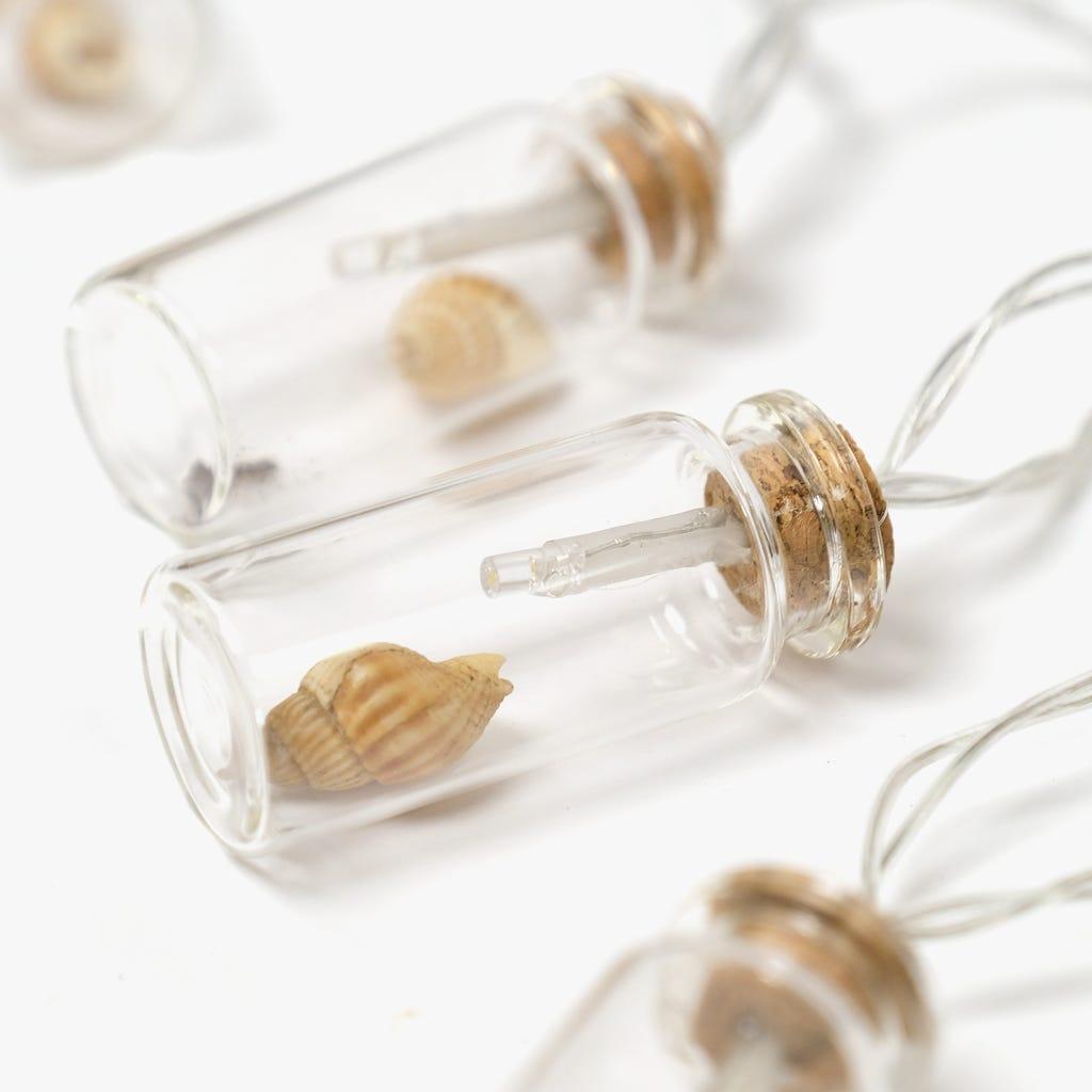 10 LED Frasco de vidro Mar (Pilhas)