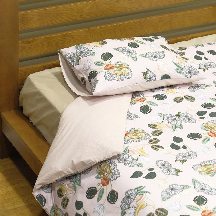 1 Saco de Edredão + 1 Fronha Greenery Rosa 140x200 cm