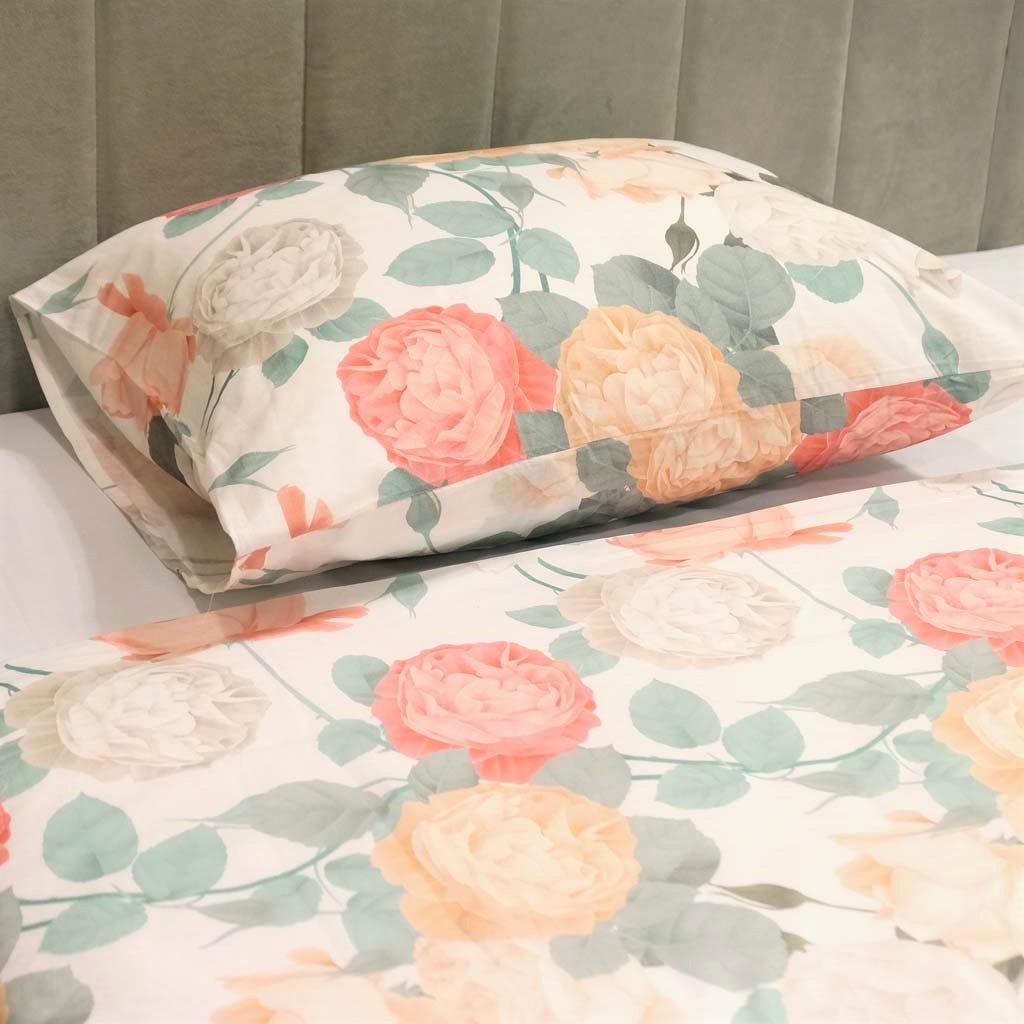 1 Saco de Edredão + 1 Fronha Rose Dream 140x200 cm