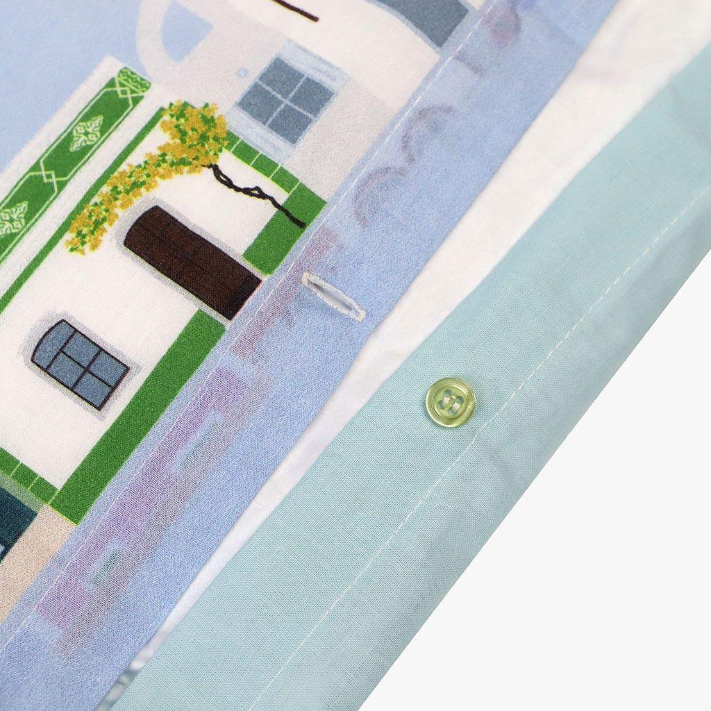 1 Saco de Edredão + 1 Fronha Buganvília Lusitânia 140x200 cm