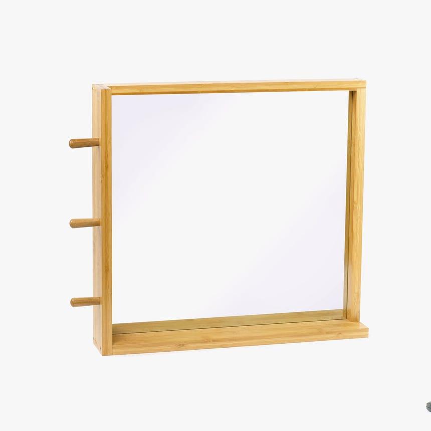 Espelho com suporte Bambu 53x50 cm