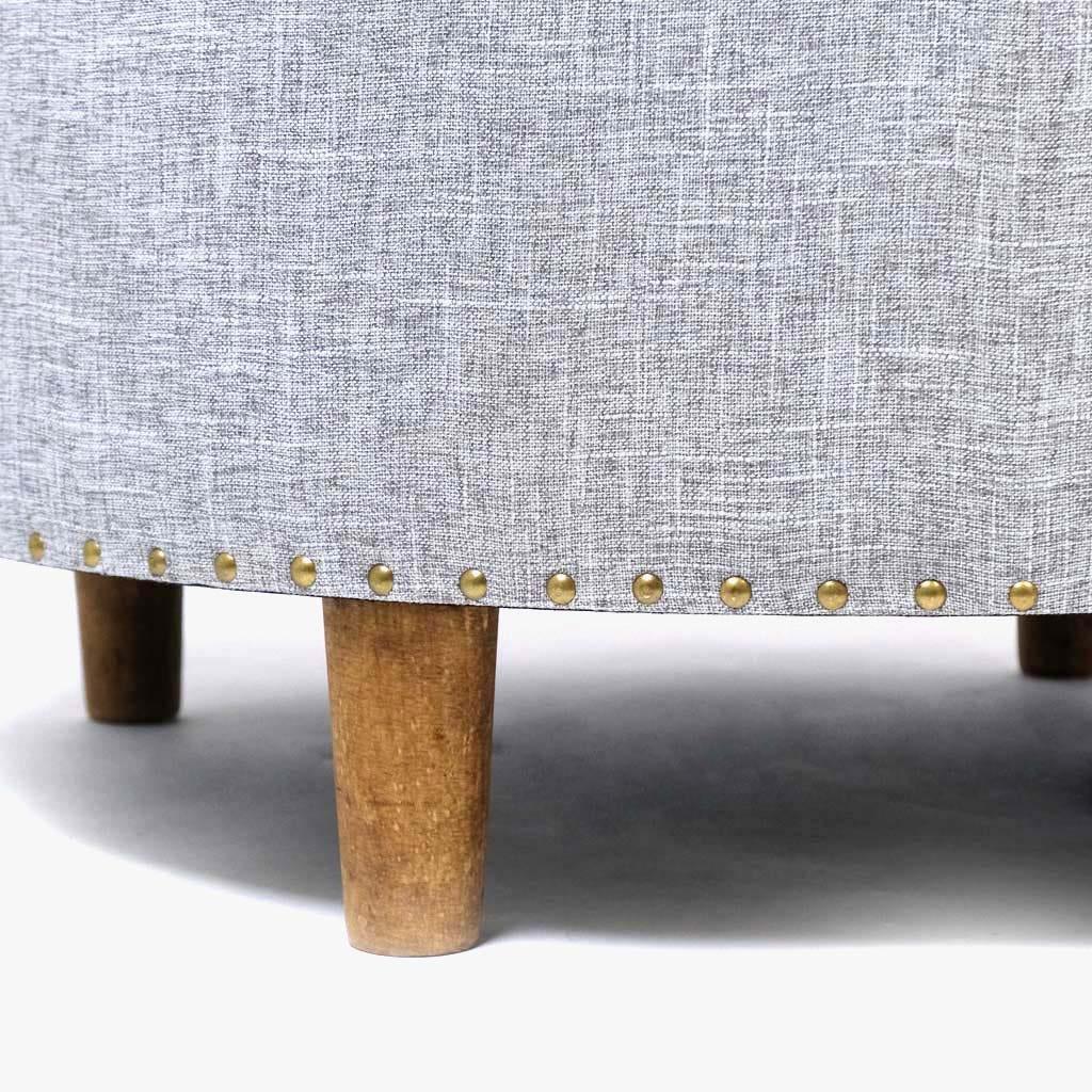 Banqueta Linho cinza 80x40 cm