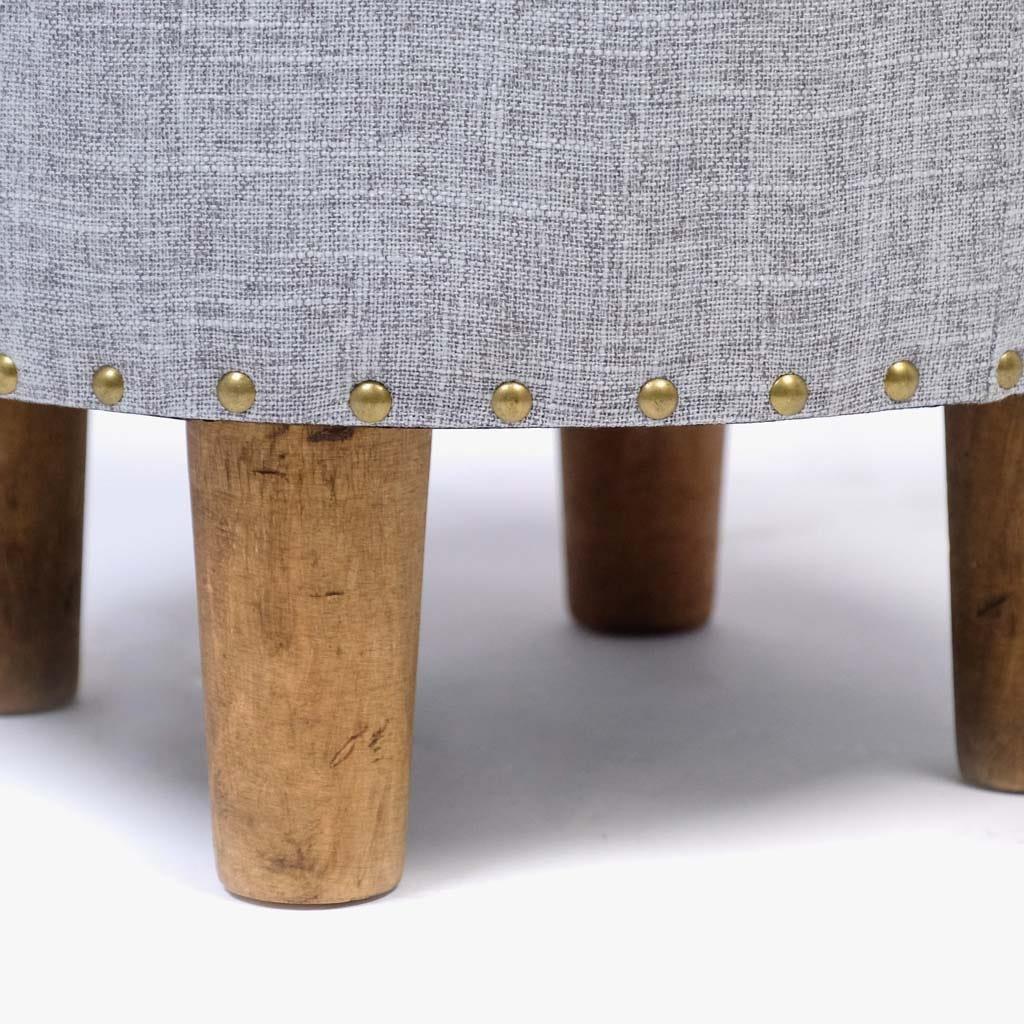 Banqueta Linho cinza 40x30 cm