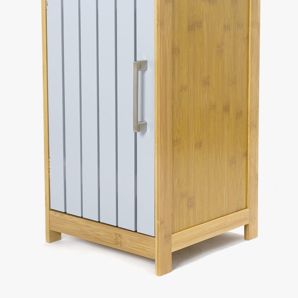 Armário Bambu com3Prateleiras Cinza 160 cm
