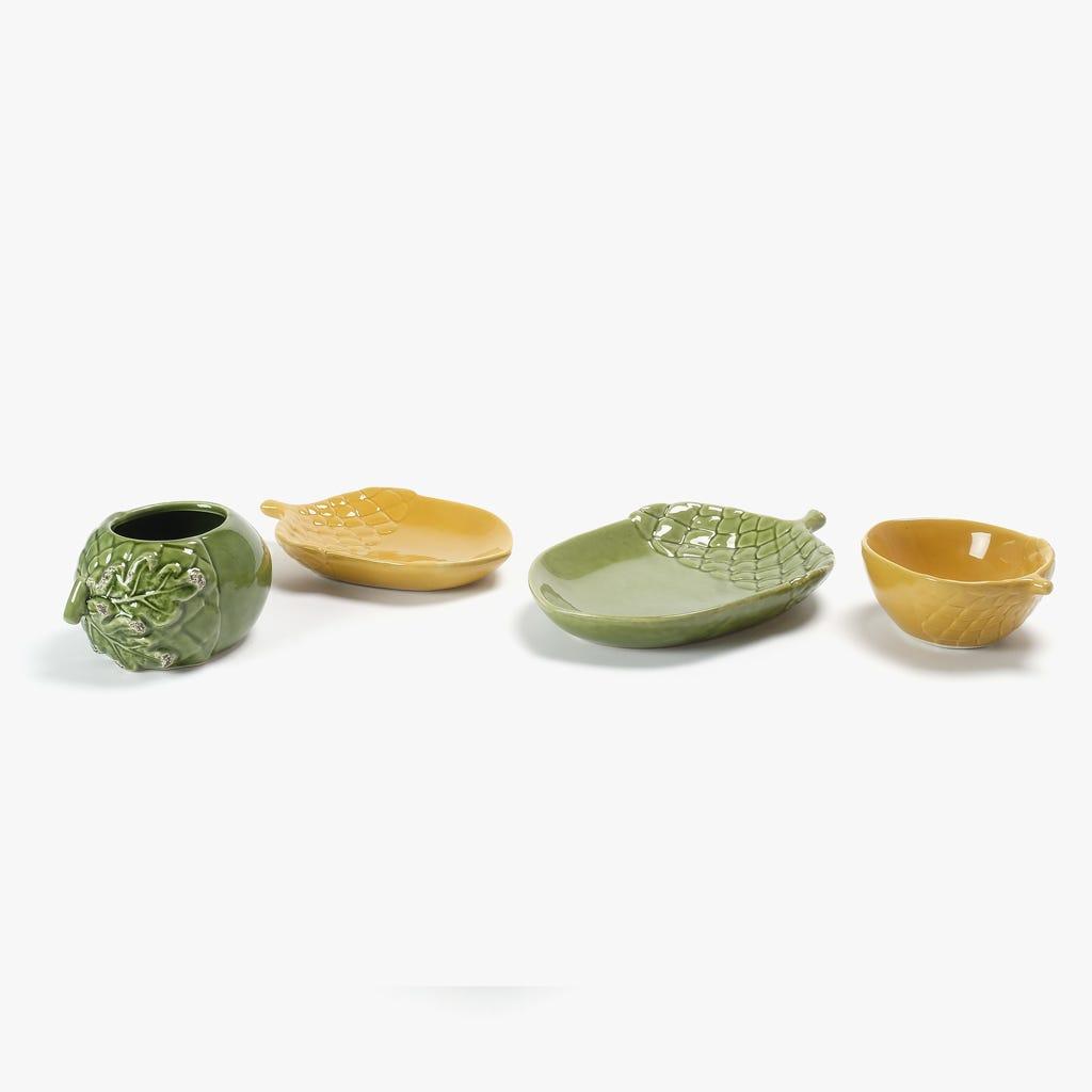 Taça Bolota Verde 10x14 cm