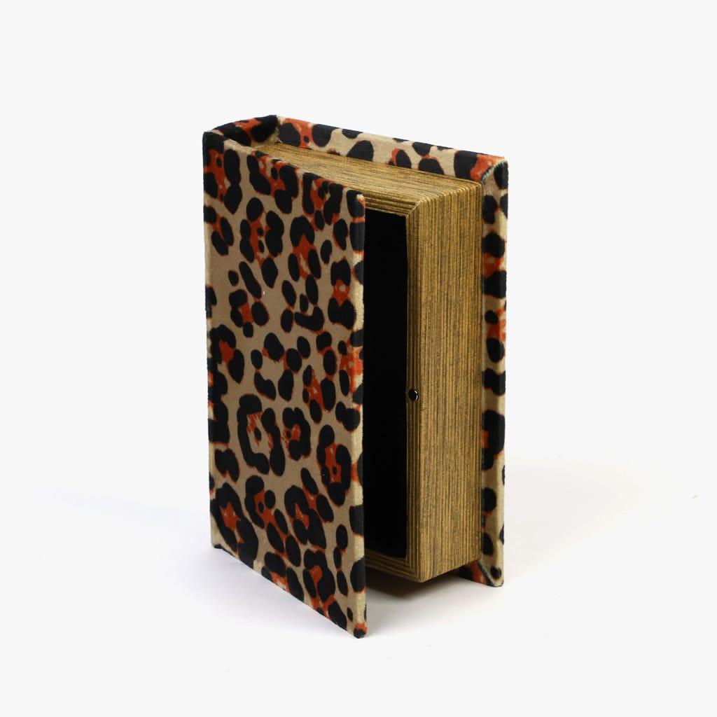 Caixa Livro Leopardo 14x4,5x18 cm
